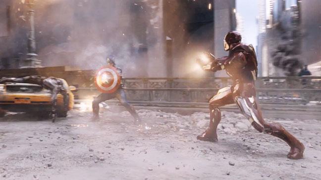 Avengers New York Battle Scene Screenshot - H 2012