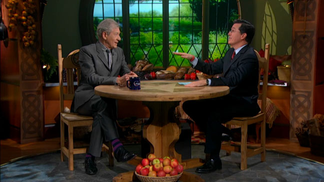 The Colbert Report Ian McKellen - H 2012
