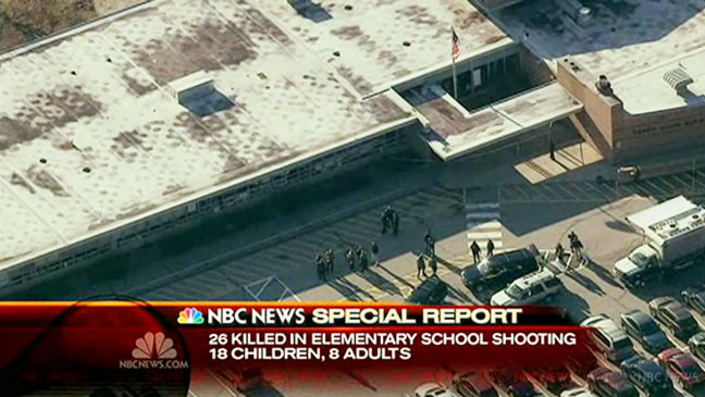 Sandy Hook Elementary School Shooting Screengrab NBC - H 2012