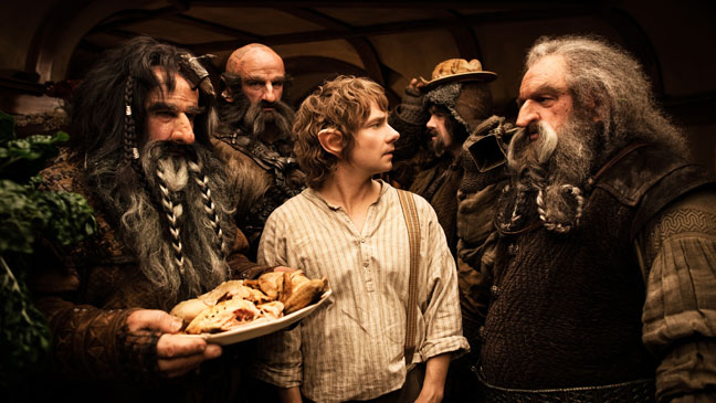The Hobbit: An Unexpected Journey Bilbo Surrounded by Hobbits - H 2012