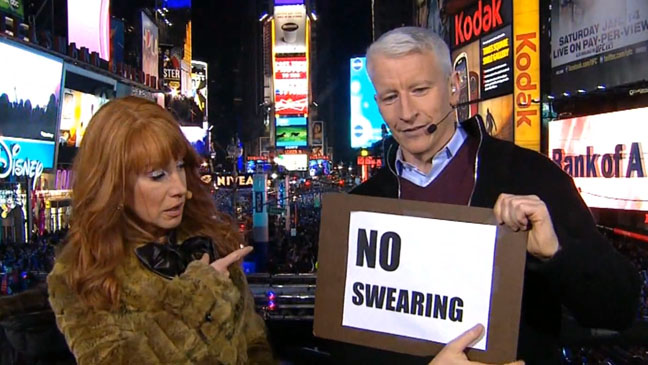 Kathy Griffin Anderson Cooper New Years Eve - H 2012