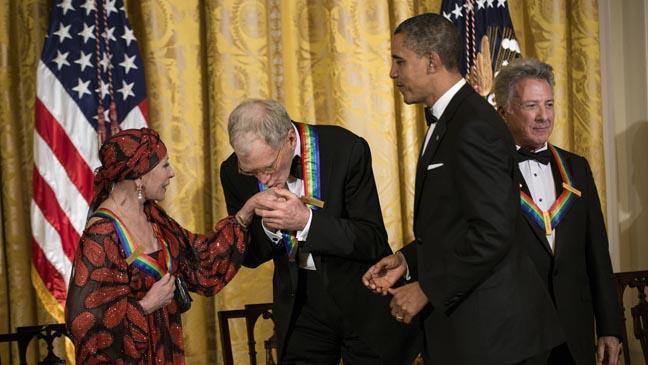 Kennedy Center Honors - Obama, Hoffman, Letterman, Makarova - H 2012