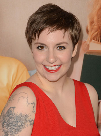 Lena Dunham Red Headshot - P 2012