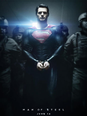 Man of Steel Poster Handcuffs - P 2012