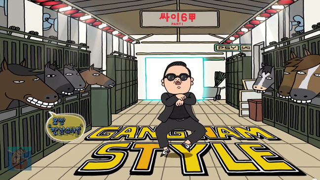 Psy Gangnam Style cartoon screen grab L