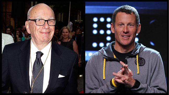 Rupert Murdoch Lance Armstrong - H 2012
