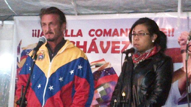 Sean Penn at Chavez Vigil in Bolivia - H 2012