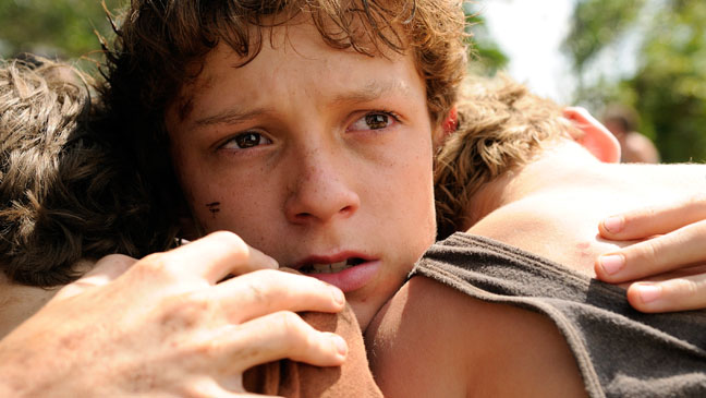 The Impossible Tom Holland Close Up - H 2012