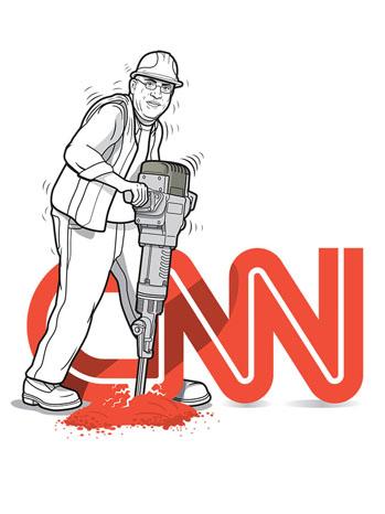 Issue 44 Jeff Zucker CNN Illustration - P 2012