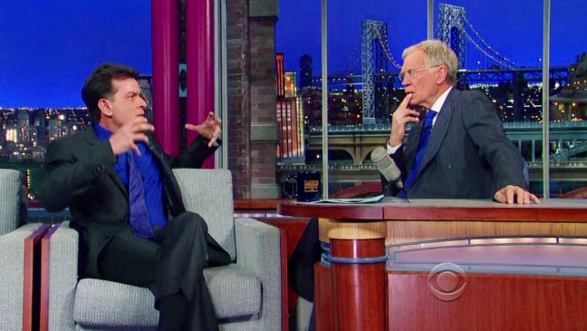 Charlie Sheen Late Night with David Letterman - H 2013