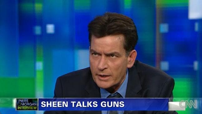 Charlie Sheen Piers Morgan Gun Control - H 2012