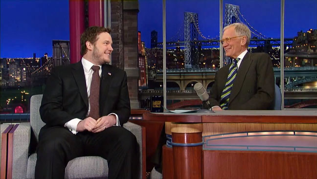 Late Show with David Letterman Chris Pratt - H 2013