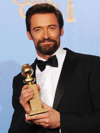 Hugh Jackman Golden Globes - P 2013
