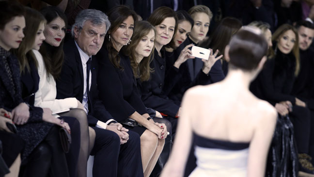 Front Row Christian Dior Haute Couture Spring-Summer - H 2013