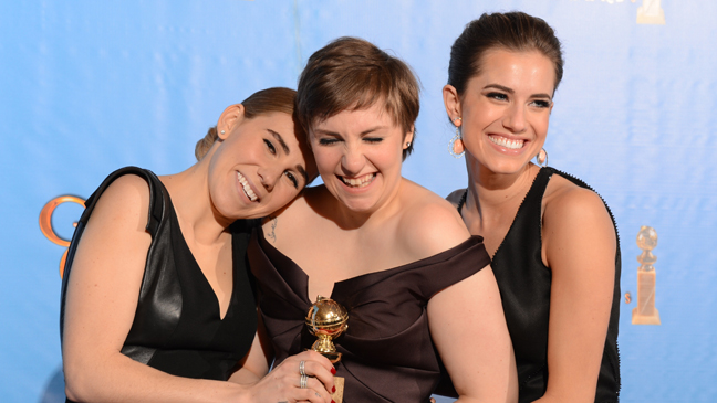 Girls Zosie Mamet Lena Dunham Allison Williams Golden Globes - H 2013