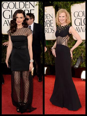 Golden Globes Rachel Weisz Nicole Kidman Split - P 2013