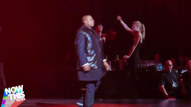 Gwyneth Paltrow dancing at Jay-Z Concert - H 2013