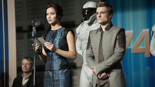 The Hunger Games: Catching Fire Lawrence Hutcherson on Stage - H 2013