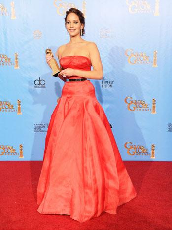 Jennifer Lawrence Golden Globe Award - P 2013