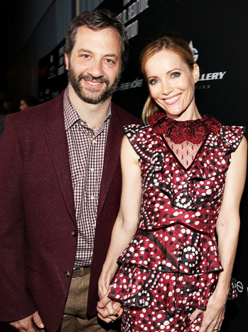 Judd Apatow Leslie Mann Holding Hands - P 2013