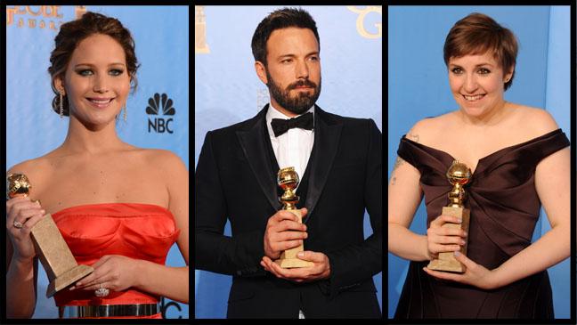 Golden Globes Winners Lawrence Affleck Dunham - H 2012