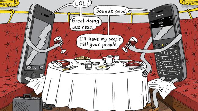 Lunch Etiquette Illustration - H 2013