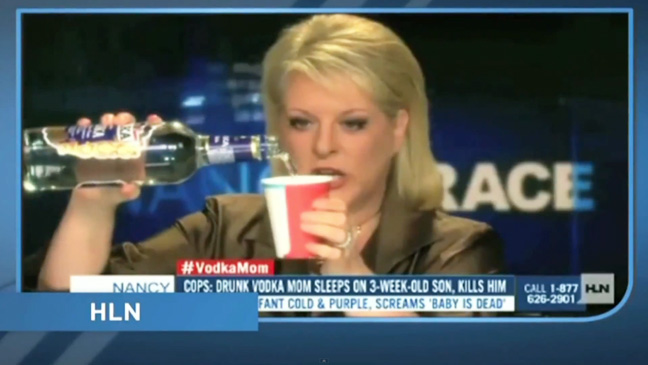 Nancy Grace Vodka Mom Screengrab - H 2013
