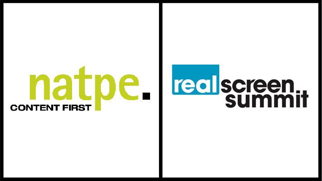 NATPE Realscreen Summit Logo Split - H 2012