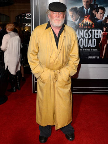 Nick Nolte Gangster Squad Premiere Yellow Robe - P 2013