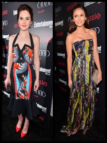 Pre-SAG Awards Fashion - Nina Dobrev and Michelle Dockery - split