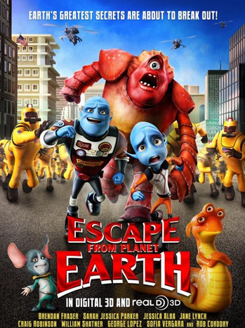 Escape from Planet Earth One Sheet - P 2013