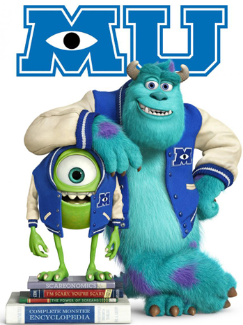 Monsters University one sheet - P 2013