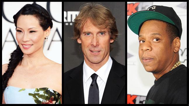 Lucy Liu Michael Bay Jay Z Split - H 2013