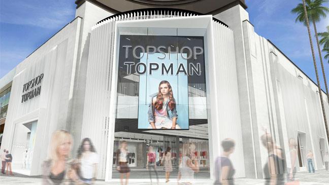 Top Shop The Grove LA Rendering - H 2013