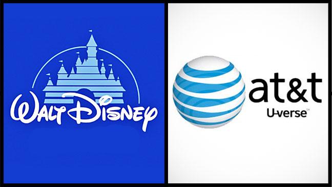 Walt Disney AT&T U-Verse Logo Split - H 2012