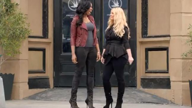 Jennifer Hudson, Jessica Simpson Weight Watchers Commercial Screen Grab - H 2013