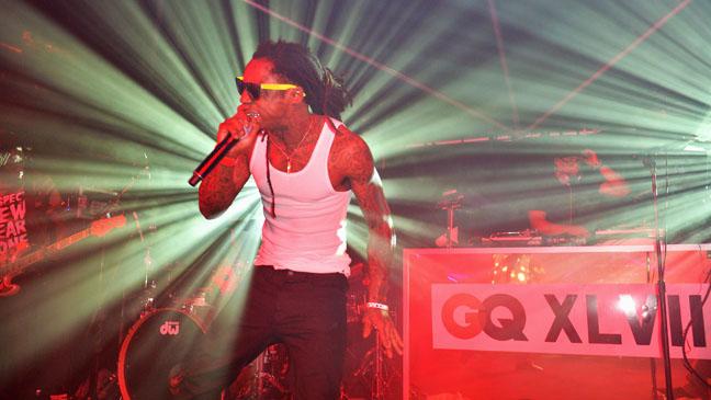 Lil Wayne Performing GQ Pre Super Bowl Party 3 - H 2013