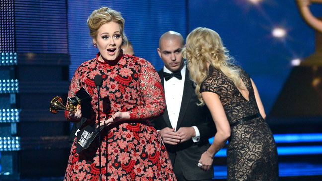 Adele Grammy Award Stage - H 2013