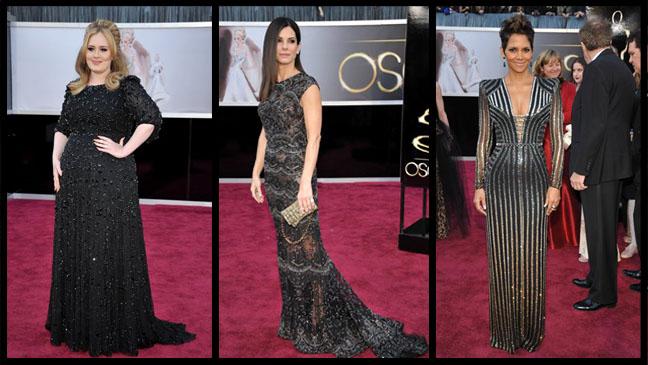Adele Bullock Berry Oscars Split - H 2013