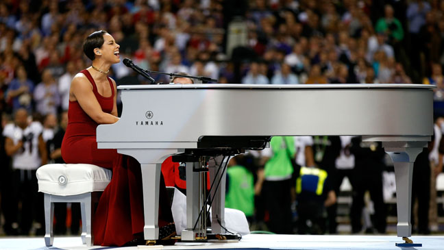 Super Bowl Alicia Keys Performs National Anthem Video Hollywood Reporter