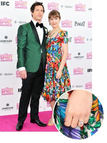 Andy Samberg Joanna Newsom Indie Spirit Ring inset - P 2013