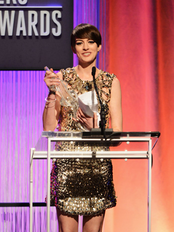 Anne Hathaway Costume Designers Guild Awards - P 2013