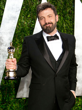Ben Affleck Oscars After Party with Statue - P 2013