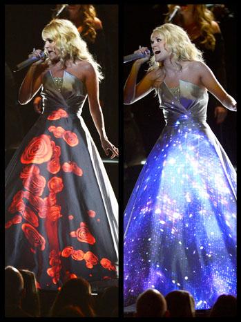 Carrie Underwood Dress Grammys Split - P 2013