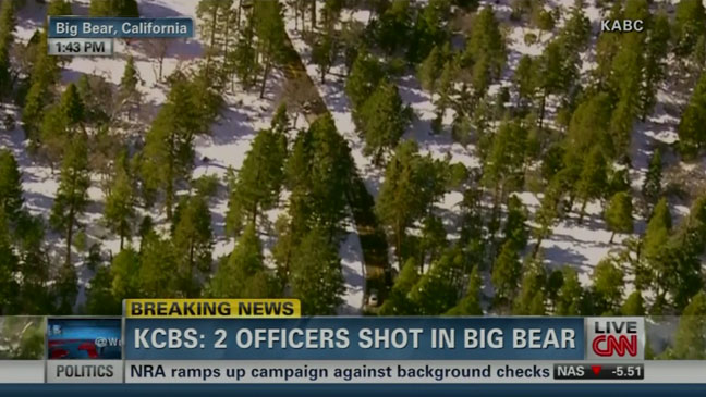 Christopher Dorner Big Bear CNN Live Coverage - H 2013