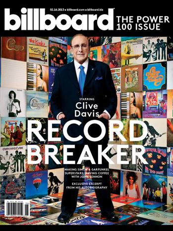 Clive Davis Billboard Power 100 cover P