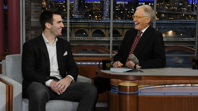 joe flacco on david letterman - h 2013