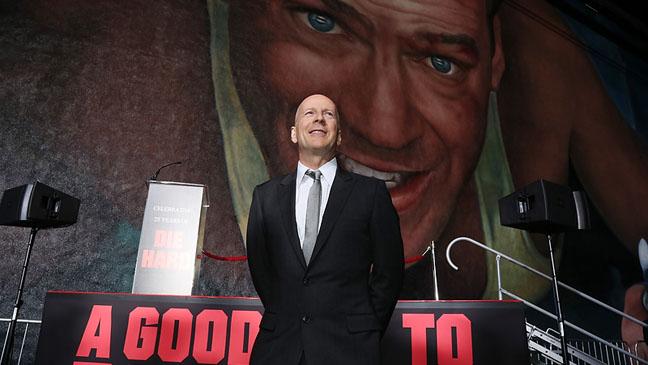 Bruce Willis Die Hard Mural Reveal - H 2013