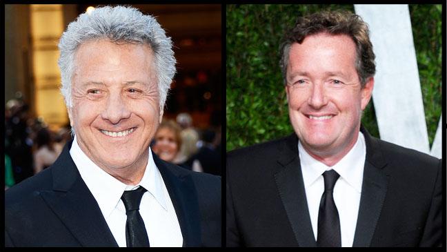 Dustin Hoffman Piers Morgan Split - H 2013