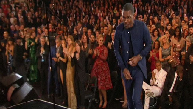 Frank Ocean Chris Brown Grammy Screengrab - H 2013